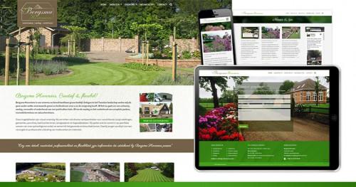 Wordpress website voor Hoveniersbedrijf Bergsma uit Losser/Overdinkel