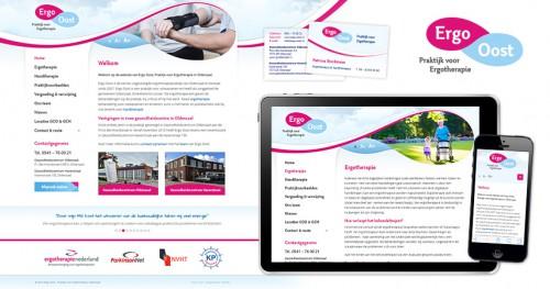 Logo, huisstijl en website voor Ergo Oost in Oldenzaal en Denekamp