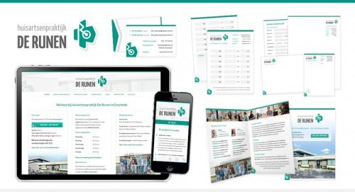 Logo, huisstijl en Wordpress website voor Huisartsenpraktijk de Runen in Enschede