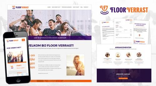 Huisstijlontwerp en webdesign voor Floor Verrast  - Verrassingsuitjes op maat