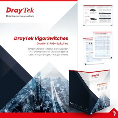 Grafisch ontwerp folder voor Draytek i.o.v. Xpert Data in Hengelo, Overijssel