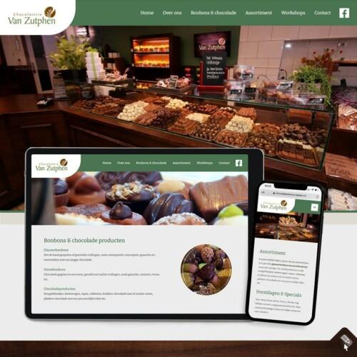 Webdesign voor Chocolaterie van Zutphen, Losser